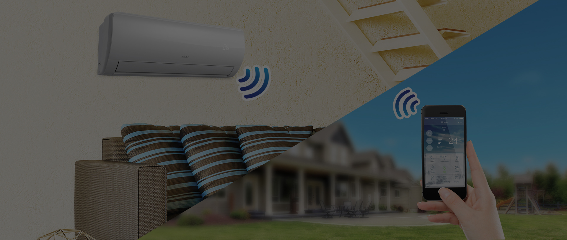 Control your air conditioner via Wi-Fi